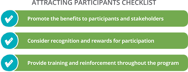 Checklist for Attracting Participants to Mentoring Programs